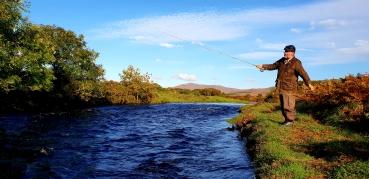 Salmon fishing islay